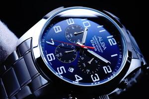 1円×3本ALBA逆輸入モデル海外機種 ブルーBLUEフェイス100m防水 クロノグラフ新品 メンズ激レア入手困難アルバ日本未発売SEIKO腕時計