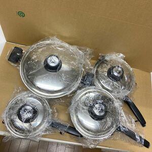 クックベスト CookBest セット 両手鍋 片手鍋 ウエストベンド社 ステンレス製 未使用保管品