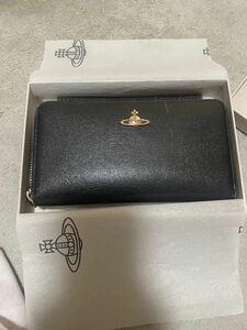 Vivienne Westwood 長財布 ヴィヴィアンウエストウッド ラウンドファスナー レディース財布 ブラック