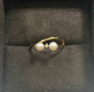 Freshwater baby pearl ring ring