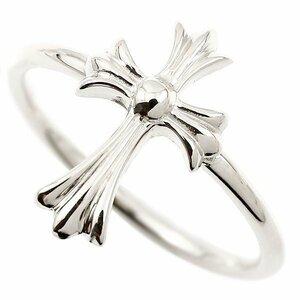 リング クロス シルバー 指輪 十字架 地金 ピンキーリング sv925 レディース 人気 ユニセックス 男女兼用 送料無料