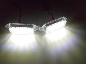 鬼白光! 三菱 一体型交換式 ! LED ナンバー灯 ライセンス ランプ ランサーエボリューションX ランエボX GSR プレミアム RS CZ4A CS2A