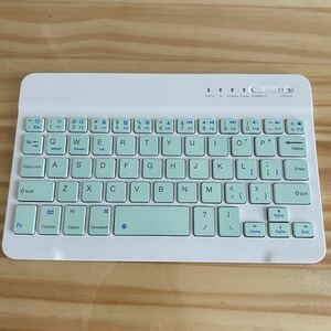 Bluetooth キーボード タブレット iphone USB充電式 白