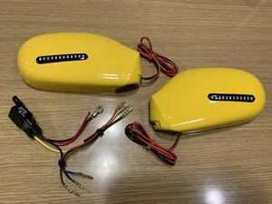 for beet side mirror new old goods!FRP made LED sequential turn signal attaching panel car ni bar yellow has painted