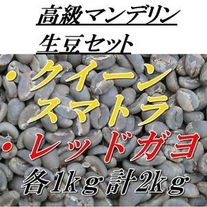 コーヒー生豆 高級マンデリンセット 1kgX2種類= 2kg 送料無料