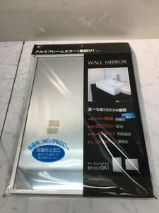 未使用品 ★ LEC/レック アルミフレームミラー 壁掛けミラー 鏡 BB-042 洗面所/リビング/インテリア 約24×31cm