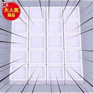 新品透明 ルースケース 白 20個セット 2.8×2.8透明 窓付 プラケース 宝石入れ 綿入り 小物入れ 天然石入4LLA