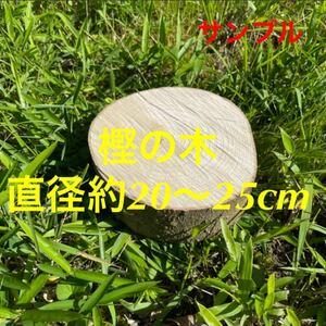 樫の木 コンパクト薪割り台
