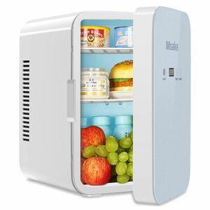 ミニ冷温庫10L 小型冷蔵庫 温度調節可 静音 車載用 キャンプ 一人暮らし
