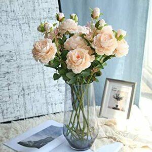 シャンパン 造花 インテリア アートフラワー 花束 ウエスタンローズフラワー 牡丹 プレゼント ギフト 贈り物 開店祝い 誕生日