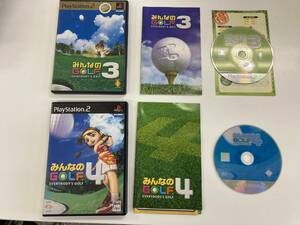 21-PS2-658 プレイステーション2 みんなのゴルフ3.4 動作品 プレステ2
