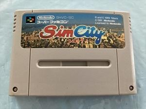 21-SFC-214 スーパーファミコン Sim City シムシティー 動作品 SFC スーファミ ☆セーブOK!☆