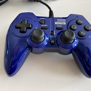21-0920-08 プレイステーション3 (PC) コントローラー ホリパッド3ターボプラス ブルー 動作品