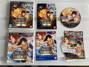 21-PS3-156 ジャンク プレイステーション3 ワンピース海賊無双1.2セット