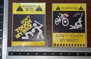 盗難防止ステッカー バイク ロードバイク 自転車 オートバイ ハーレー ツインカム エボ モトクロス ミニベロ 折りたたみ