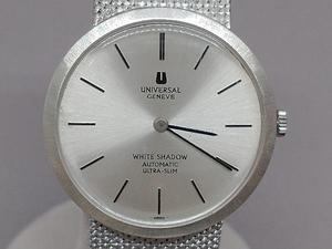 【2021年8月OH済】 Universal Geneve ユニバーサルジュネーブ K14WG ホワイトゴールド 金無垢 総重量73.2g 手巻 メンズ腕時計 非防水