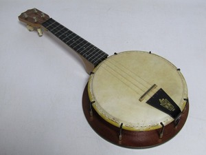 II03-3517[SAI] 希少 バンジョー ウクレレ Lilan BU-1 ヴィンテージ レトロ 弦楽器 ①