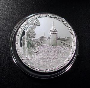 ●スイス 2014年 現代射撃祭 シャフハウゼン 50フラン銀貨 プルーフ 発行1200枚