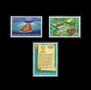 ■ギリシャ切手 1968年 メキシコ五輪 / オリンピック 3種完
