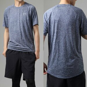 残少 XXL ツルサラ素材 アンダーアーマー テック Tシャツ 検 ランニング トレーニング 野球 半袖 紺 しもふり ネイビー カモ 迷彩 2XL