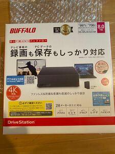 新品 BUFFALO 外付けハードディスク 8TB HDD テレビ録画