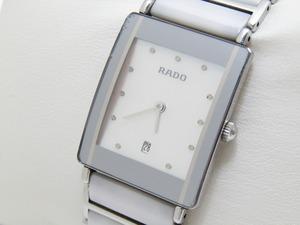 ♪売り切り 大特価 稼働品 RADO ラドー ダイヤスター チタン セラミック 腕時計 160.0486.3 シェル文字盤 クォーツ SS 人気商品♪