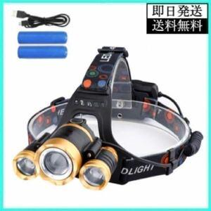 LED ヘッドライト ヘッドランプ LEDライト LEDランプ USB充電式 ワークライト 投光器 作業灯 高輝度 3灯 COBライト 12000ルーメン 船舶灯