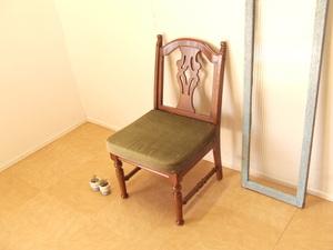 三越家具 アームレスチェア ブルージュ チェア カントリーハウス チェア 椅子 ビンテージ 英国カントリー【沖縄・離島は発送不可】
