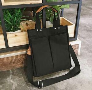 トートバッグ ショルダーバッグ 黒 キャンバス レディースバッグ スクールバッグ iPad 肩がけ 大容量 マザーズバッグ 韓国