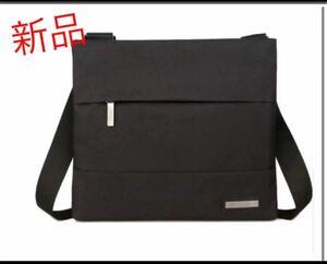 ショルダーバッグ メンズバッグ メッセンジャーバッグ ブラック iPad 防水 アウトドア 斜めがけ ビジネスバッグ スーツ