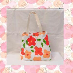 トートバッグ ランチバッグ お弁当 ミニバック 花 花柄 フラワー カラフル ミニトート ミニトートバッグ かわいい オシャレ