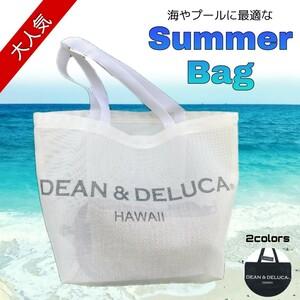ハワイ限定★ DEAN&DELUCA ディーン&デルーカ トートバッグ エコバッグ サマーバッグ ホワイト