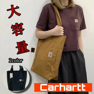 新品タグ付き★Carhartt カーハート エコバッグ トートバッグ ショッピングバッグ 大容量 ブラウン