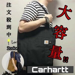 新品タグ付き★Carhartt カーハート エコバッグ ショッピングバッグ トートバッグ 大容量 ブラック