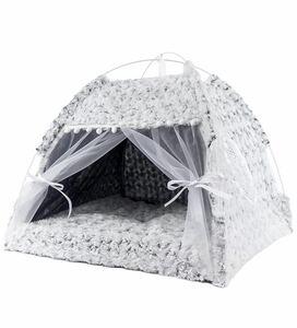 猫小屋 犬小屋 ペットハウス ティピーテント 猫ベッド 犬ベッド (S)