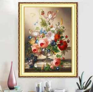 花瓶の花 クロスステッチキット 刺繍キット クロスステッチ 刺繍 ハンドメイド