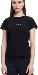 1000円から大人気のアニエスベー 小さいロゴ Tシャツ(レディース) Sサイズブラック