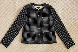【アニエスベー】agnes b. 薄手ジャケット 長袖 サイズ36 黒×白 美品 未使用 定価42,000円