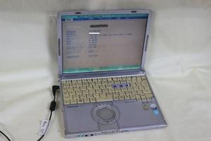 ジャンク品ノートパソコン Panasonic Let's note CF-W7 Core2Duo メモリ1GB HDD無 12.1inchワイド 起動確認済 代引き可