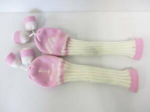 [〒928-795] 2個セット ミズノ mizuno フェアウェイウッド 靴下型ヘッドカバー ピンク×ホワイト