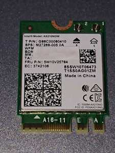 wifi6E Bluetooth 5.2 Intel AX210 Dual Band 2973Mbps M.2 Wireless Card AX210NGW