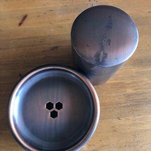 銅製 茶こぼし 茶筒