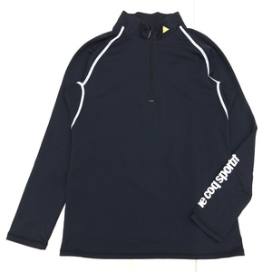 le coq sportif GOLF ルコックゴルフ 吸水速乾 ハーフジップ ドライ ゴルフシャツ M 黒 ブラック レディース 長袖 国内正規品