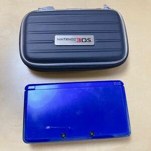 ニンテンドー3DS 3DS本体 メタリックブルー ACアダプター 充電器 ハードケース、SDカードセット
