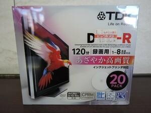 TDK インクジェットプリンタ対応 DVD-R 120分 1~8倍速 20PACK DR120DPWB20U/未開封品
