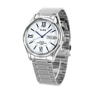 新品 送料無料 セイコー アルバ ソーラー メンズ 腕時計 AEFD554 SEIKO ALBA ホワイト 時計