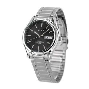 新品 送料無料 セイコー アルバ ソーラー カレンダー メンズ 腕時計 AEFD566 SEIKO ALBA ブラック