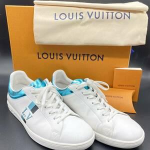 Louis Vuitton ルイヴィトン ルクセンブルグ・ライン メタリックブルー スニーカー レザー シューズ 革靴 26.5cm (7 1/2)
