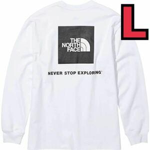 ノースフェイス(THE NORTH FACE) 長袖Tシャツ ロングスリーブバックスクエアロゴティー NT82131 W メンズ