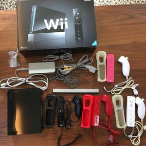 Nintendo Wii 本体 リモコン&ヌンチャク4セット はじめてのwii付き